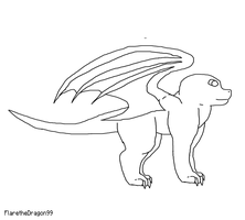 Dragon Template by SuperSonicFireDragon