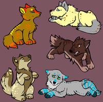 Canine Puppie Batch - Open by LuzinasAdopts