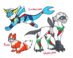 pokeformers- smokescreen wheeljack rung by glowyrm