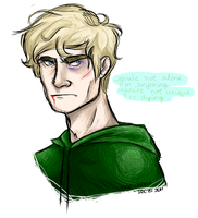 Peeta's War Face by Oranjes