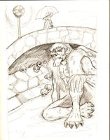 Troll Bridge - pencils by Bbedlam
