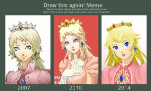 Draw This Again! Meme - Princess Peach by Rainemaster