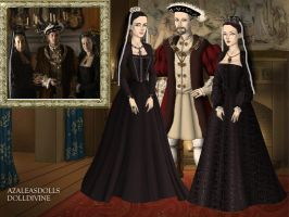 The family Tudor Aragon from The Tudors by Nurycat