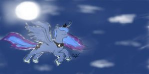 Luna Flying by Bluebird9209