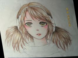 Vocaloid OC - portrait by AnnRosalyn