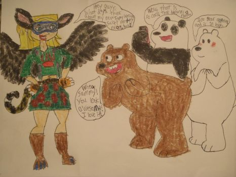 Creature Gal and the Bare Bears by Sabreleopard