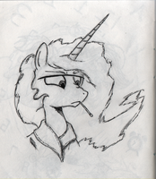 Sun Fever sketch by Hewison