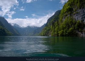 Alpine Lake - Clear Water - Mountains 01 by kuschelirmel-stock