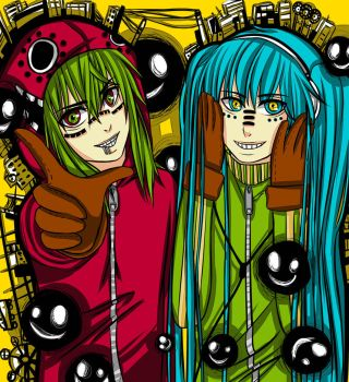 Matryoshka Miku and Gumi by MokkunChan