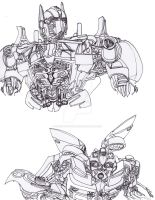 DOTM Prime and Bumblebee by ConstantM0tion