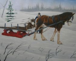 horse and sled commission by JeffEvans