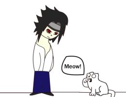 Sasuke meets Simons cat by zetsuandtobi280