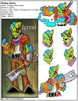 Monster March 23: Jerral the fighter by badgerlordstudios