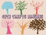 Cute Tree Photoshop Brushes by petermarge