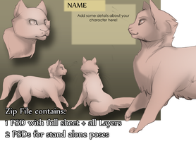 Basic Cat Character Pack by SkulldogAdopts