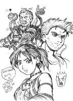 Wesker...and Chris and Sheva by ViperXtreme