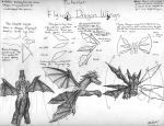 How to Draw Flying Dragon Wing by bladesfire