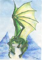 Watercolour Traditional Dragon by LennyThynn