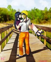 commission: naruhina.. by xilverxparkle