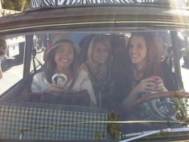 chelsea and friends in the car by sumood