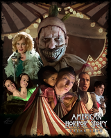 AHS Freak Show Poster by PZNS