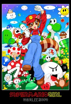super mario girl by cloudberry