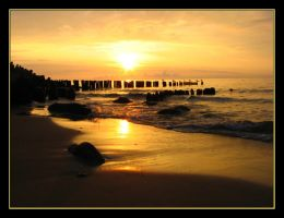 sunset and the Baltic Sea 16 by Eikka