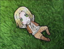 Little resting on the grass. by Mirouchi