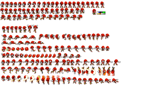 megha knuckles advance sprite sheet by tfpivman
