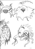 Heartless Sketches: 4 Fiends by Lord-Duncan