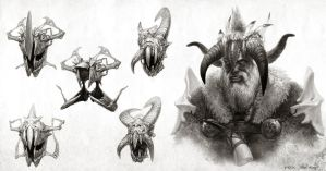 War King _ sketches by Bogdan-MRK