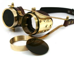 Goggles with interchangable lenses 1 by AmbassadorMann