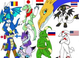 The Diversity Of Digimon by SAHikari