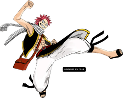 Natsu Render - Fairy Tail by misscelles