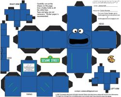 Muppets 9: CookieMonster Cubee by TheFlyingDachshund