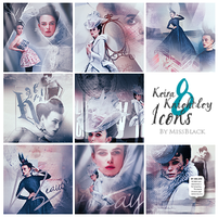 Eight Keira Knightley Icons by EmeliaJane