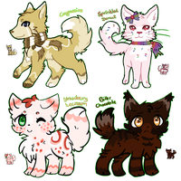Adoptable Auction - Sweets-Animals - CLOSED by Cirorin