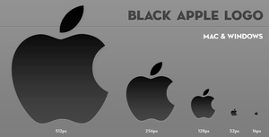Black Apple Logo by larzon83