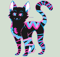 Neon colored Cat adopt (Closed) by Ex-Noah