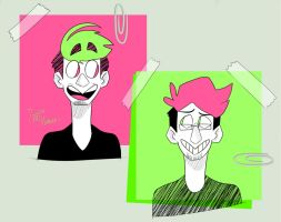 Pink n Green by IvaTheHuman