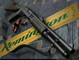 Remington  870 shotgun by VladiT