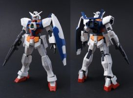 HG Gundam AGE-1 Normal by Tekka-Croe