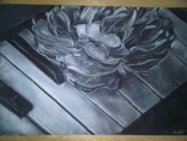 Flower on Piano by Soltix