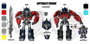 Optimus Prime Plush Design Sheet by Laserbot