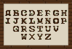 Tiny Wooden Font (#pixel_dailies) by utikeev