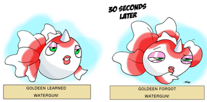 Goldeen by JHALLpokemon