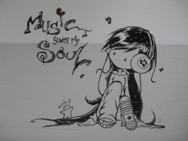 Music Saves My Soul - mural by Averin-Renee