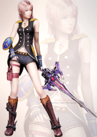 FFXIII-2: Serah Farron's Style and Steel by SynVanillaSky