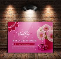 Birth Day Invitation Postcard by Designhub719