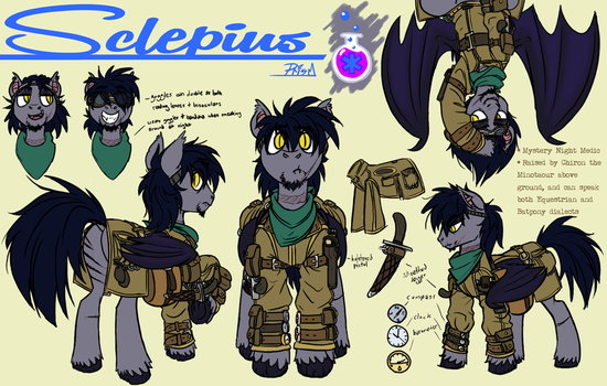 Wastelander Reference Sheet by Prism-S